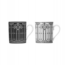 Set of 2 Mugs H Déco Black