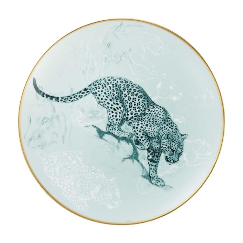 Carnets d'Équateurs Dessert Plate Panther - Set of 2
