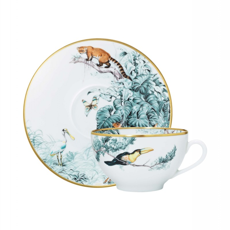 Carnets d'Équateur Breakfast Cup and Saucer - Set of 2