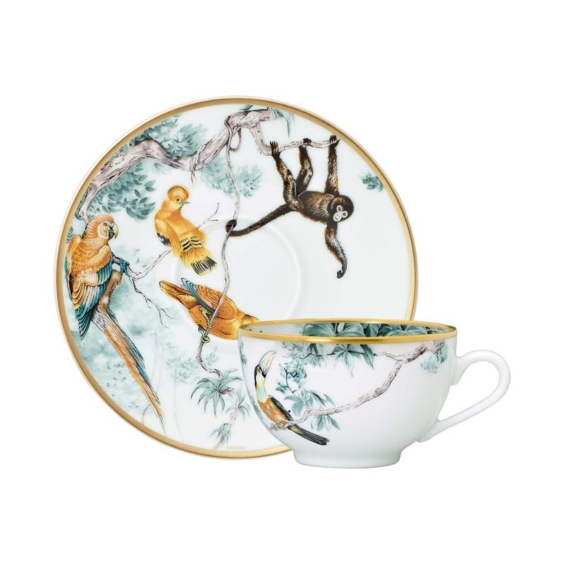 Carnets d'Équateur Tea Cup and Saucer - Set of 2