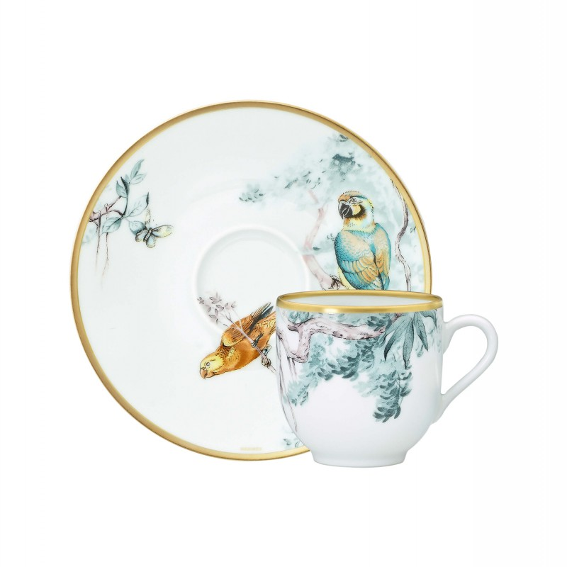 Carnets d'Équateur Coffee Cup and Saucer - Set of 2