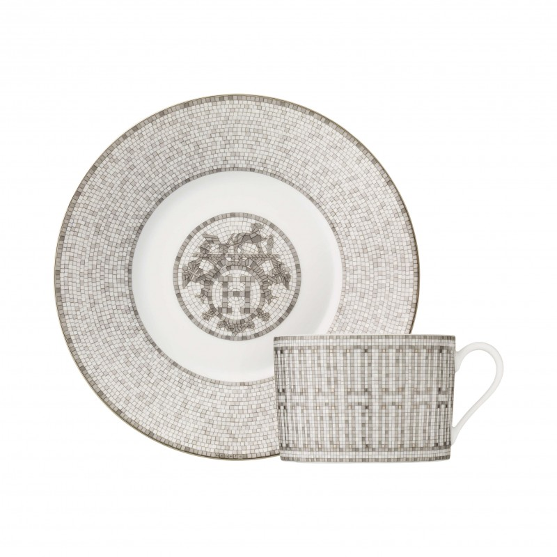 Mosaïque au 24 Platinum Breakfast Cup and Saucer - Set of 2
