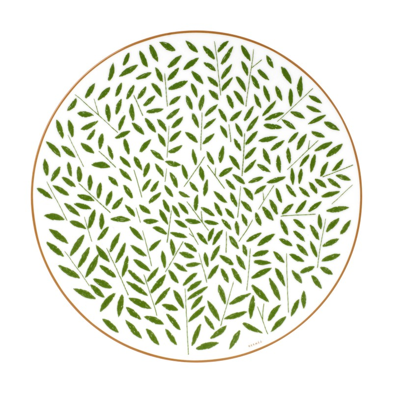 A Walk in the Garden Dinner Plate Green - Set of 2