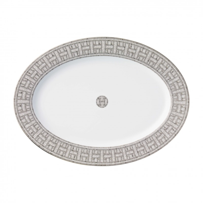 MosaÏque au 24 Platinum Small Oval Platter