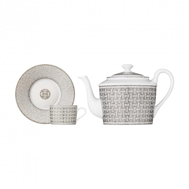 Mosaïque au 24 Platinum Set Teapot and 2 Cups