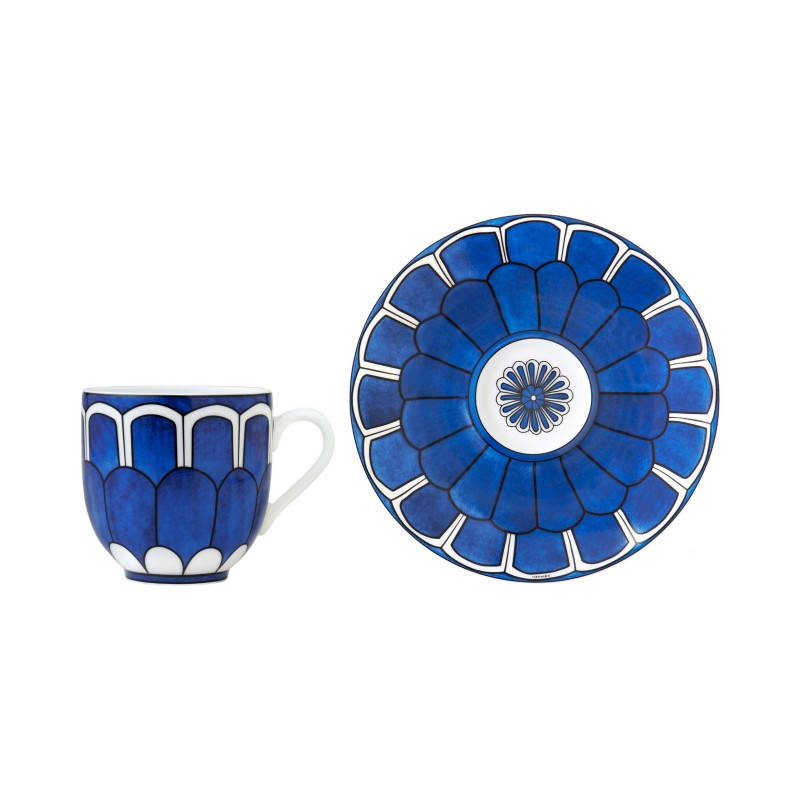 Bleus d'Ailleurs Coffee Cup and Saucer - Set of 2