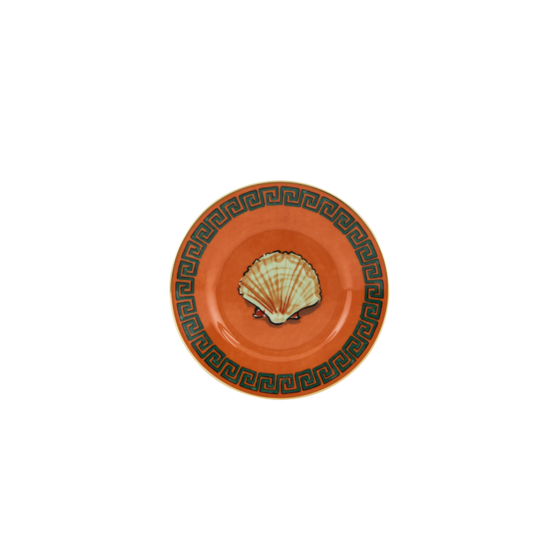 Il Viaggio di Nettuno Bread Plate Rock Orange - Set of 2