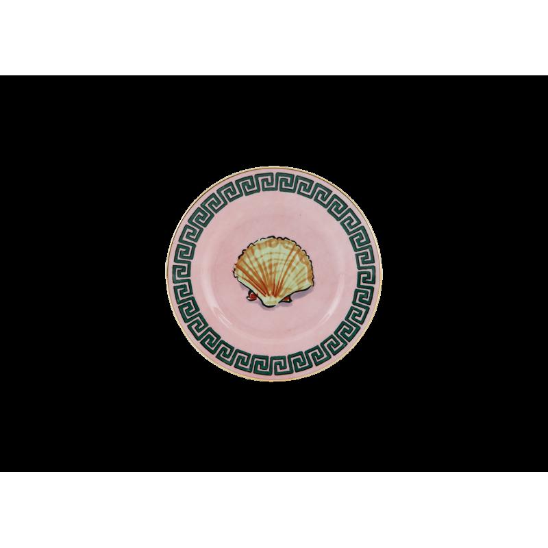 Il Viaggio di Nettuno Bread Plate Pink - Set of 2
