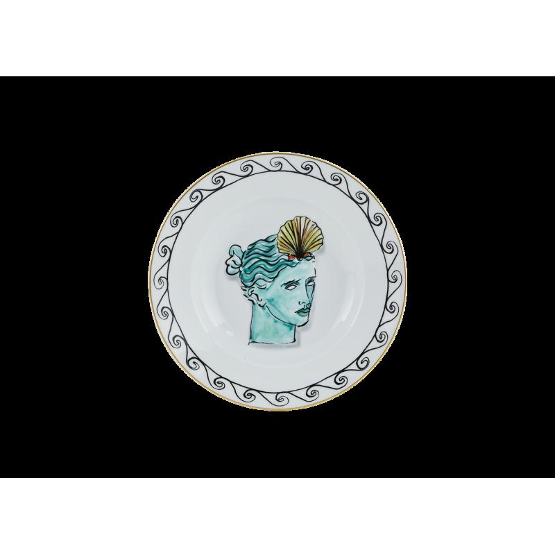 Il Viaggio di Nettuno Soup Plate White - Set of 2
