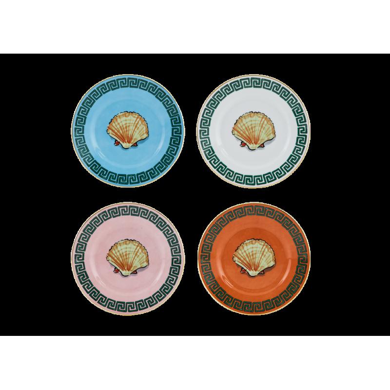 Il Viaggio di Nettuno Mix of 4 Bread Plates