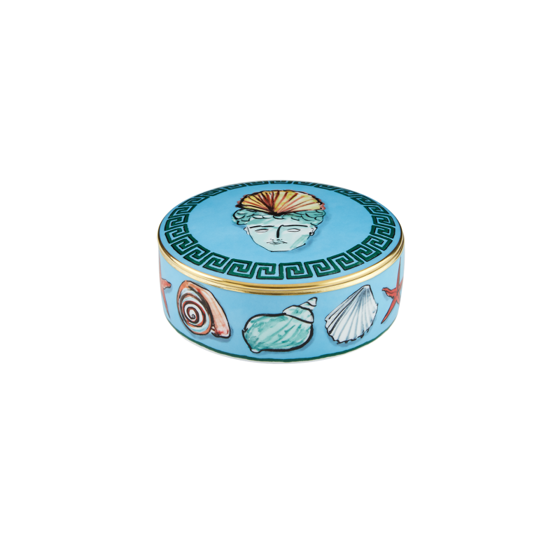 Il Viaggio di Nettuno Round Box Sea Blue