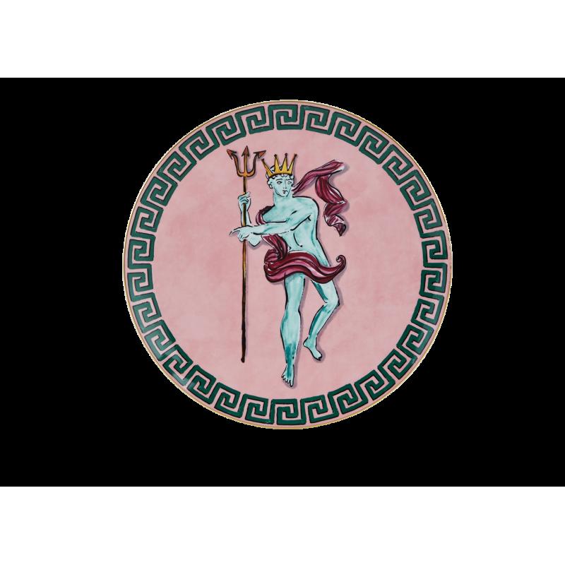 Il Viaggio di Nettuno Centerpiece and Charger Plate Pink