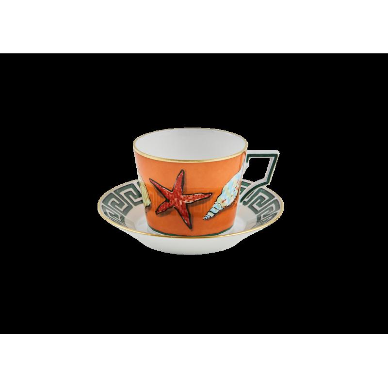 Il Viaggio di Nettuno Tea Cup and Saucer - Set of 2