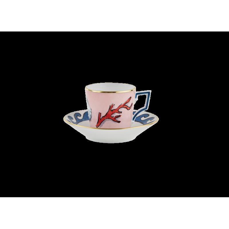Il Viaggio di Nettuno Coffee Cup and Saucer - Set of 2