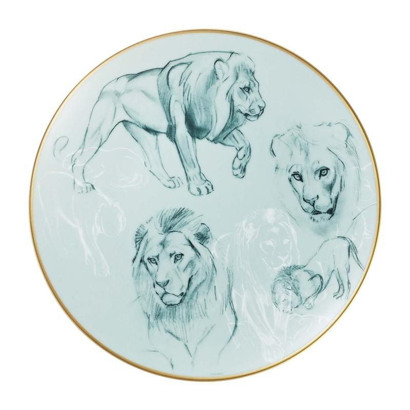 Carnets d'Équateur Dessert Plate Lions - Set of 2