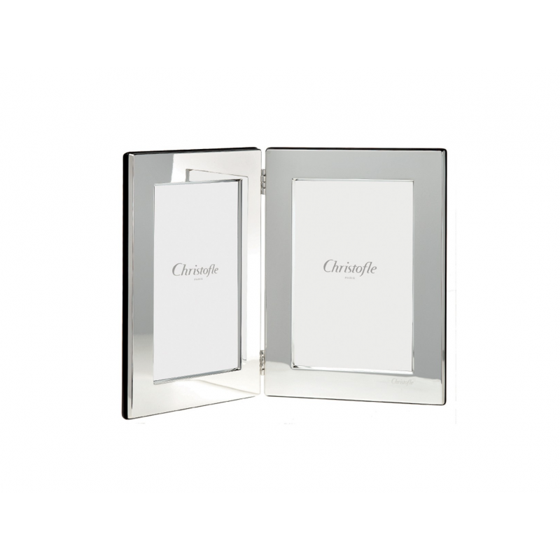 Fidelio Silver-Plated Double Picture Frame 10x15