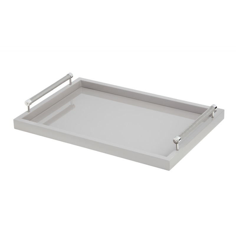 Large Lacquered Tray Grey