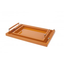 Lacquered Tray Orange