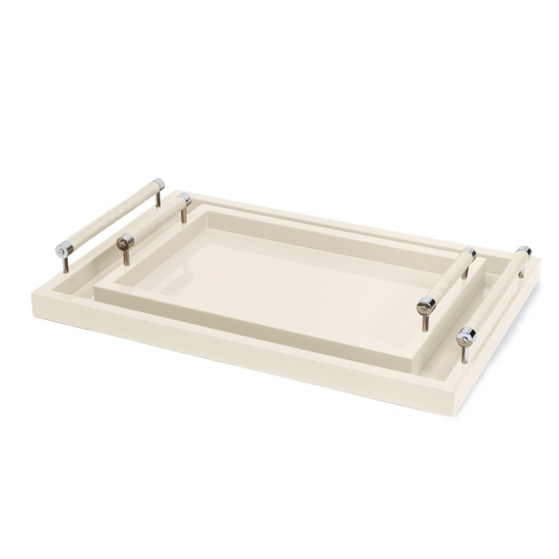 Lacquered Tray Ivory