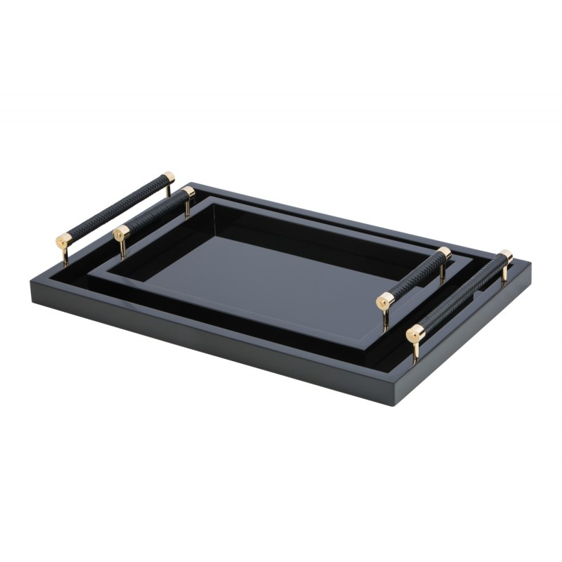 Small Lacquered Tray Black