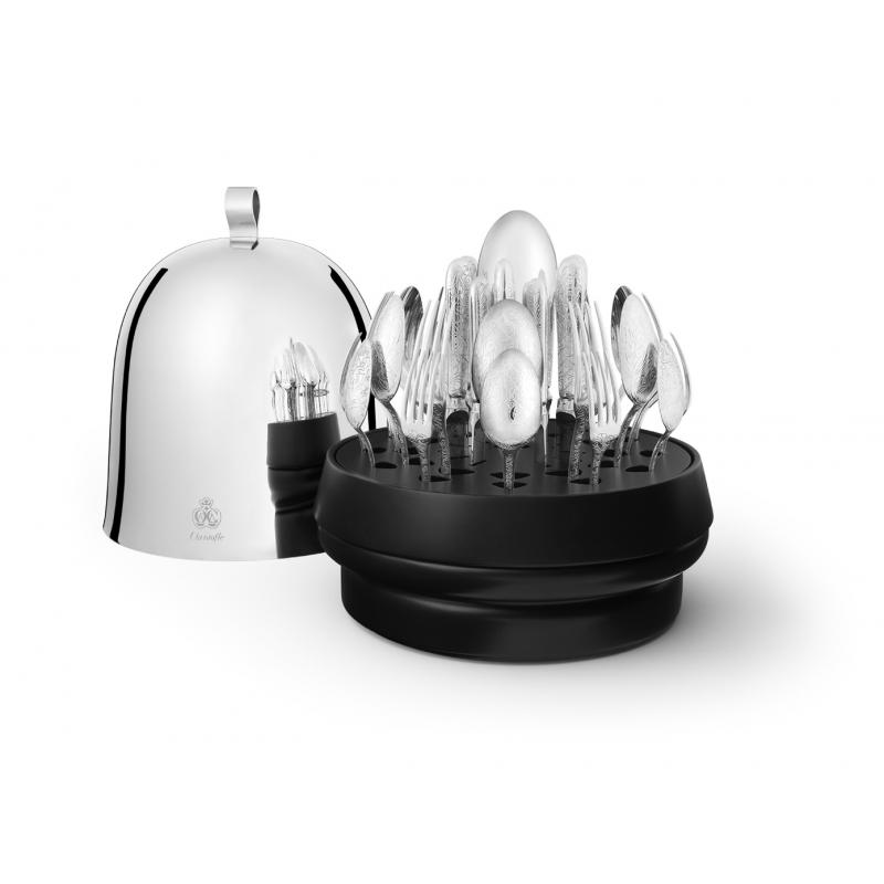 Ruche Jardin d'Eden 38-Pieces Silver-Plated Flatware Set