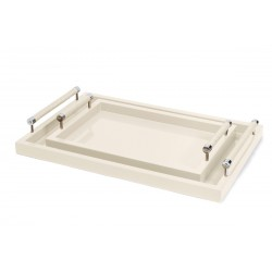 Small Lacquered Tray Ivory
