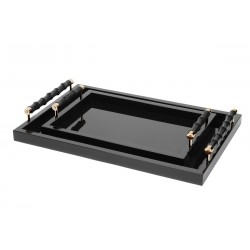 Lacquered Tray with Bamboo...