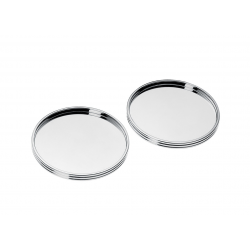 K+T 2 Silver-Plated Coasters