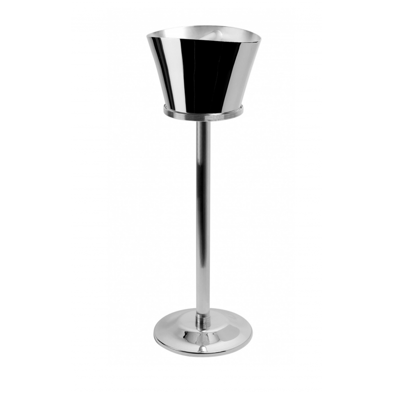 K+T Silver-Plated Champagne & Ice Bucket Stand