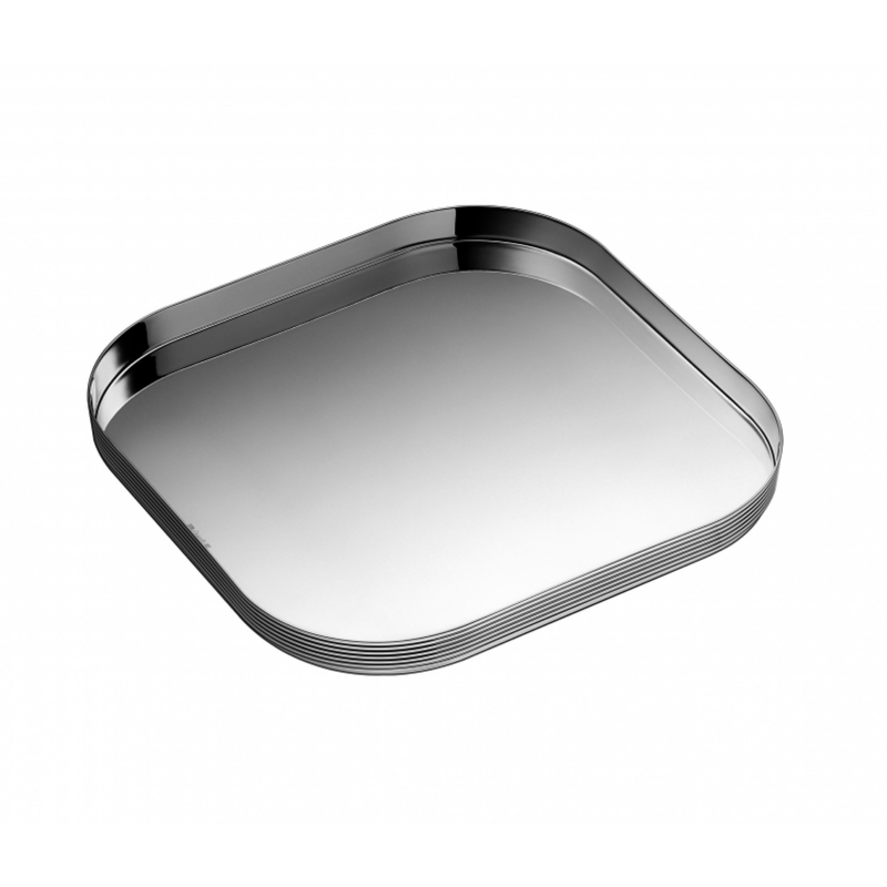 K+T Silver-Plated Square Tray