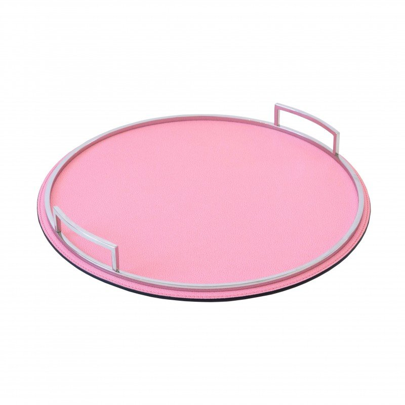 Defile Small Round Tray Pink