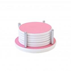 Sirmione Corian Coasters Pink