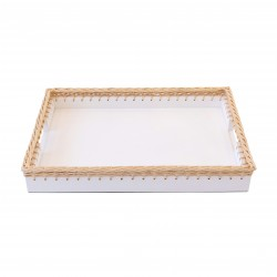 Giverny Large Tray White
