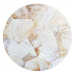 Pearl Round Coasters White...