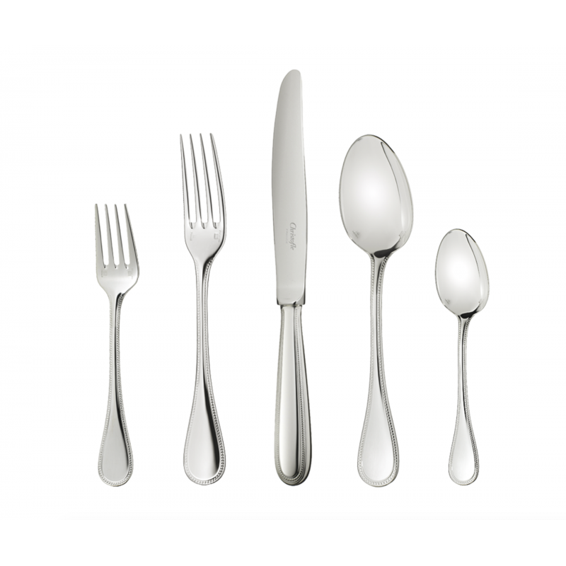 Perles Silver-Plated Dinner Fork