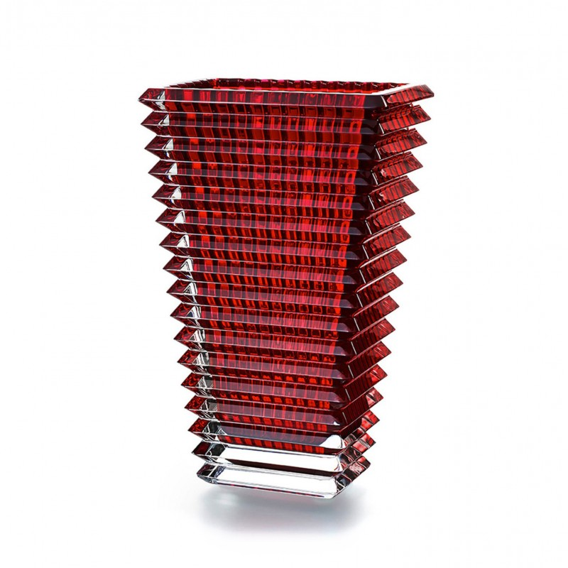 Eye Vase Rectangular Red