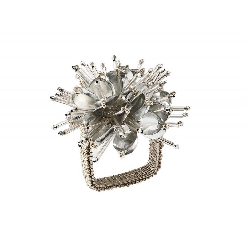 Starburst Napkin Ring Silver