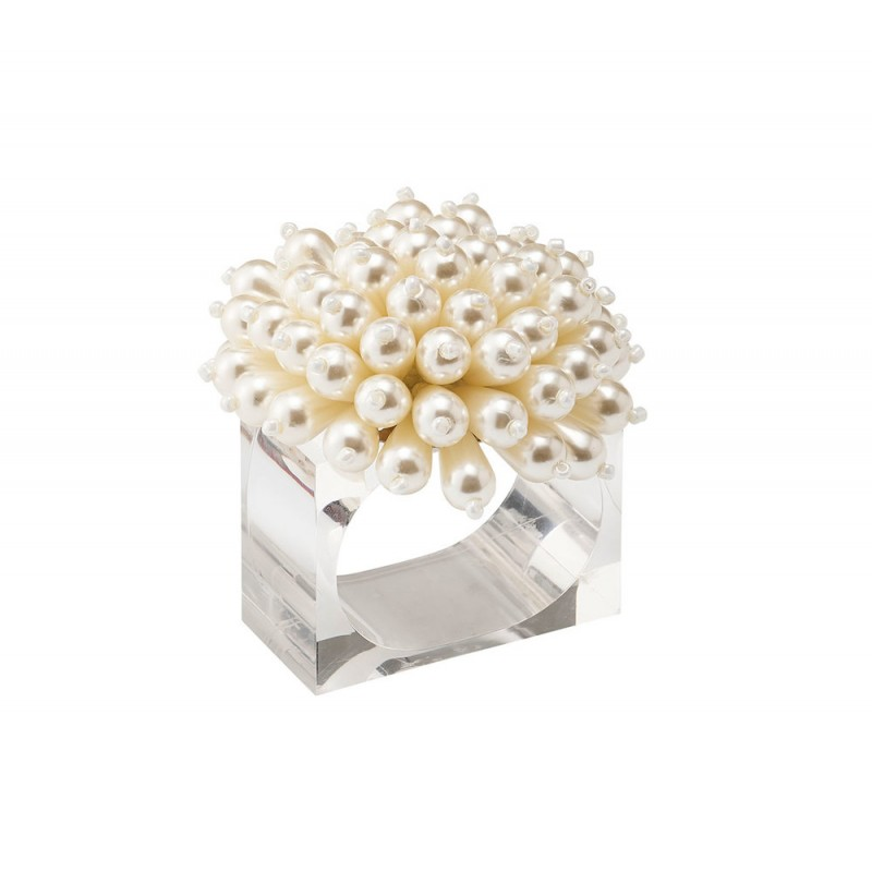 Zinnia Napkin Ring Pearl
