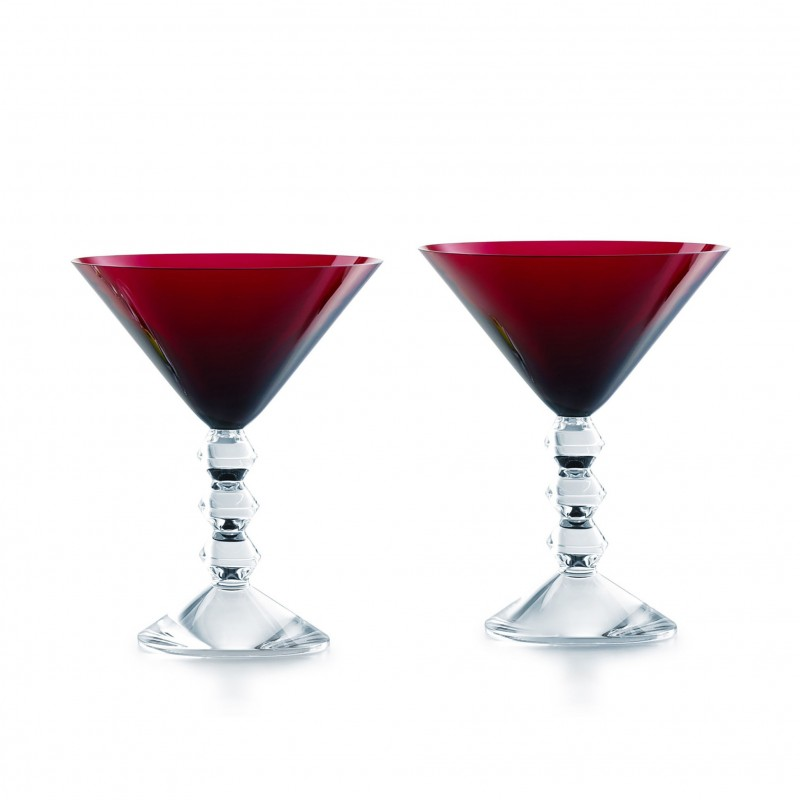 Set of 2 Véga Martini Glasses Red