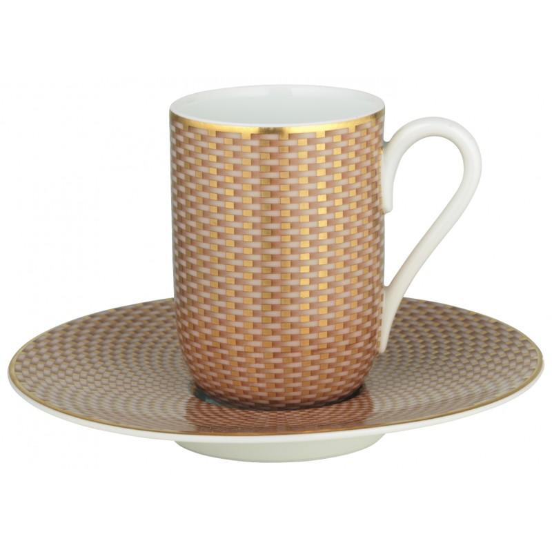 Trésor Beige Tasse Espresso avec Soucoupe
