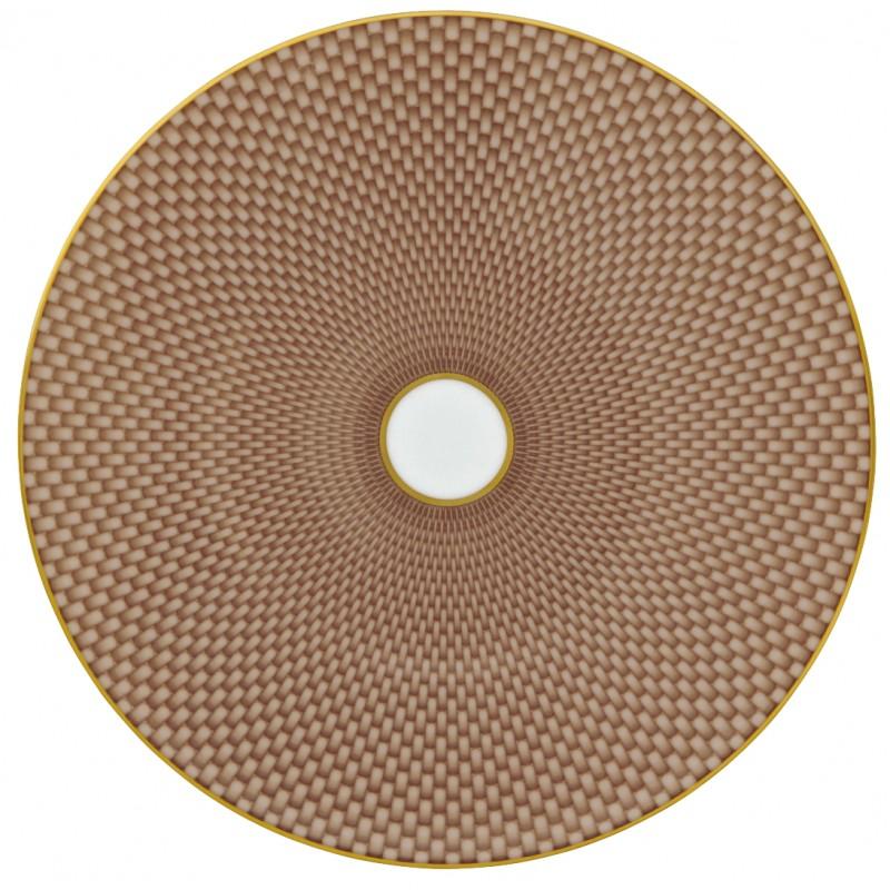 Trésor Beige Assiette Plate Coupe 22 cm