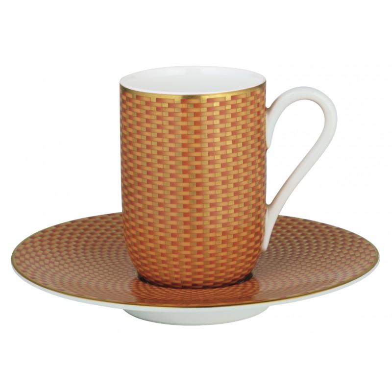 Trésor Orange Tasse Espresso avec Soucoupe