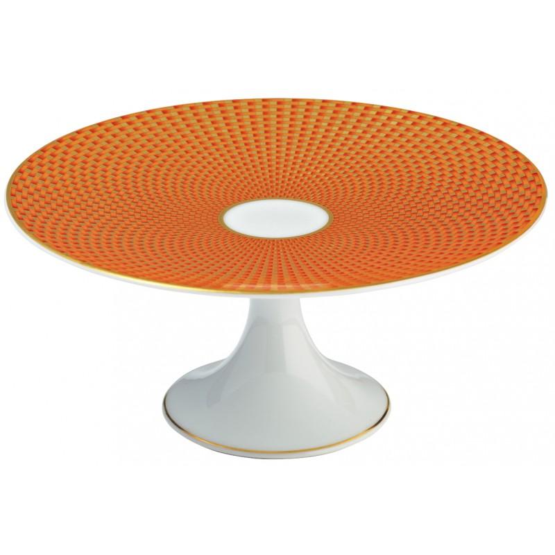 Trésor Orange Plat à Mignardises 16 cm