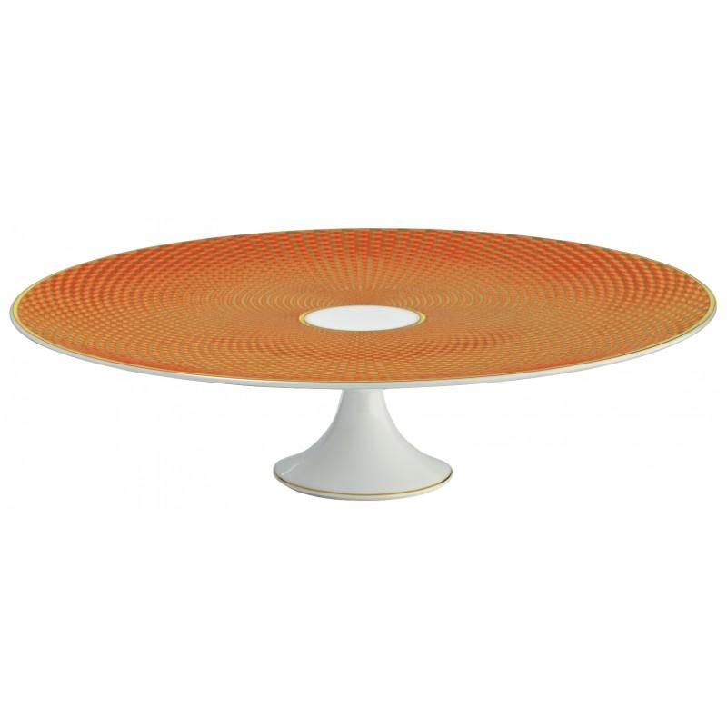Trésor Orange Plat à Mignardises 27 cm