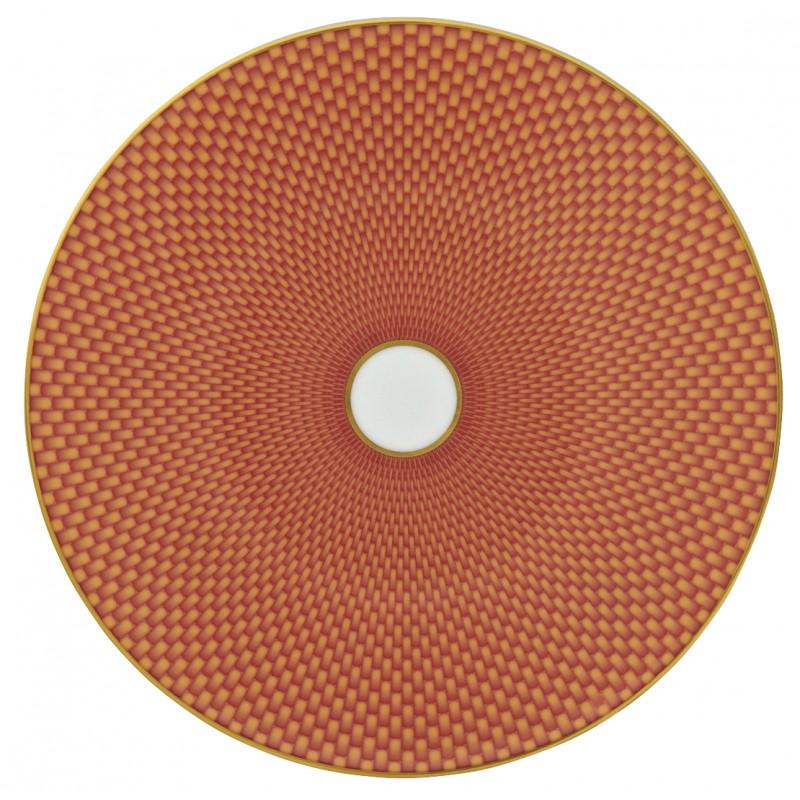 Trésor Orange Assiette Plate Coupe 22 cm