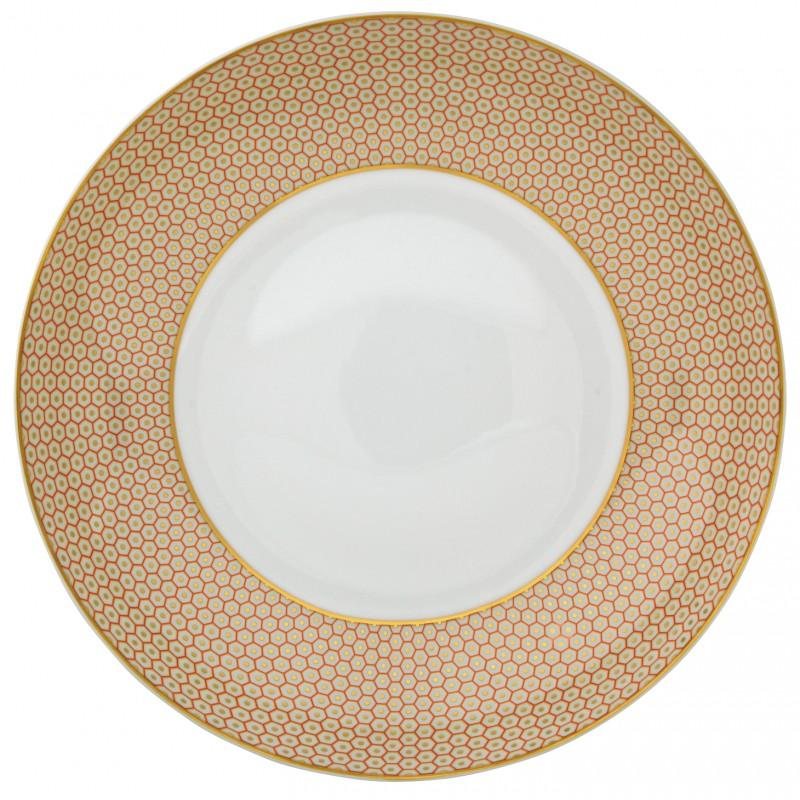 Trésor Orange Assiette Creuse Coupe 27 cm
