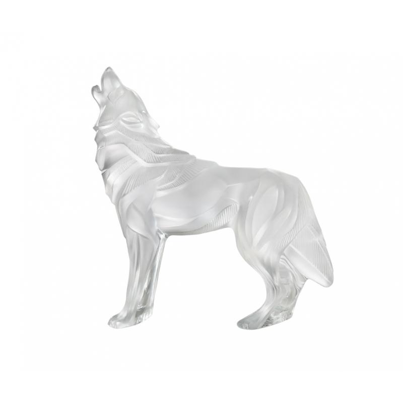Wolf Sculpture Clear
