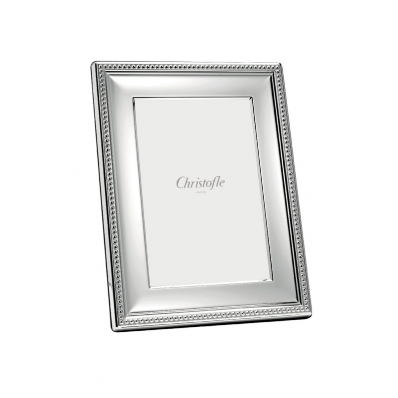 Perles Cadre à Photo en Métal Argenté 13x18 cm