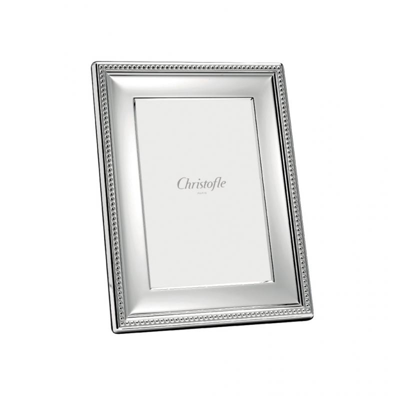 Perles Cadre à Photo en Métal Argenté 18x24 cm