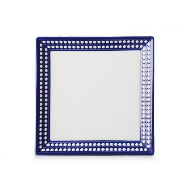 Perlée Blue Square Tray